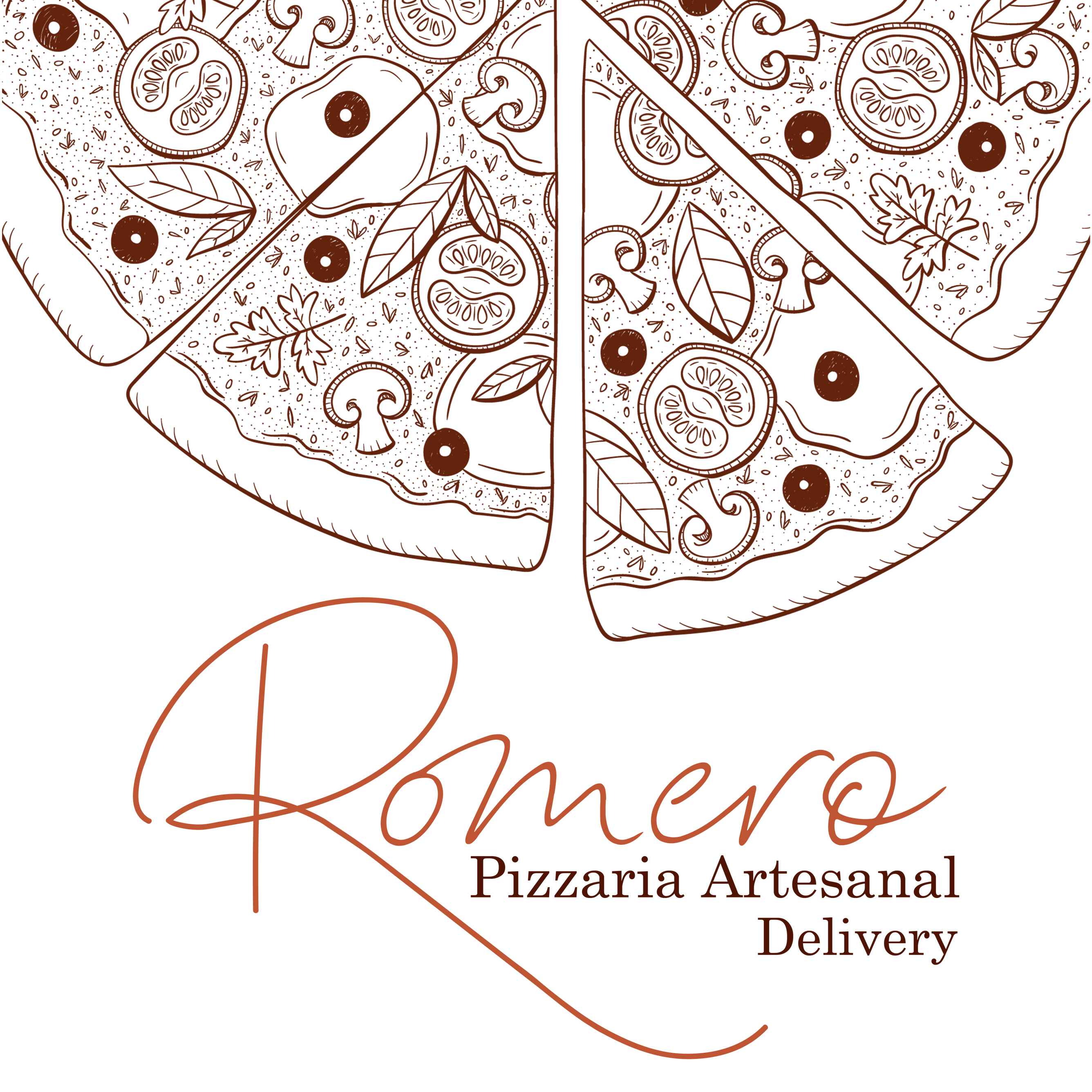 Logo-Pizzaria - Romero Pizzaria Artesanal - Delivery