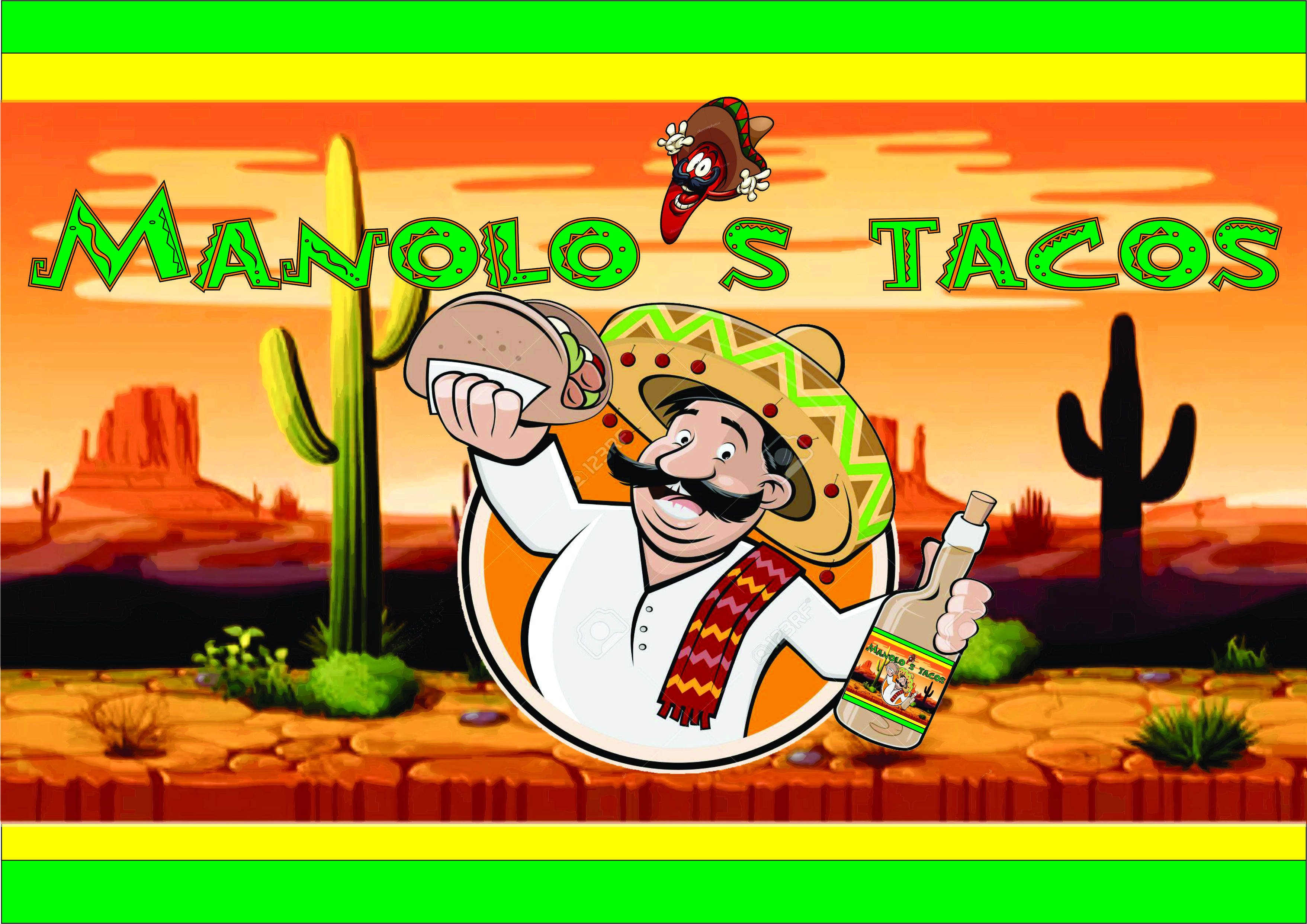 Logo-Fast Food - Manolo's Tacos
