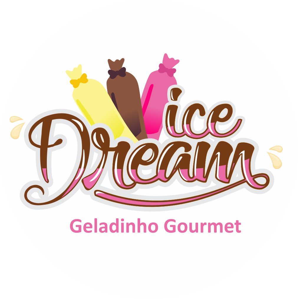 Logo-Sorveteria - Ice Dream Geladinho