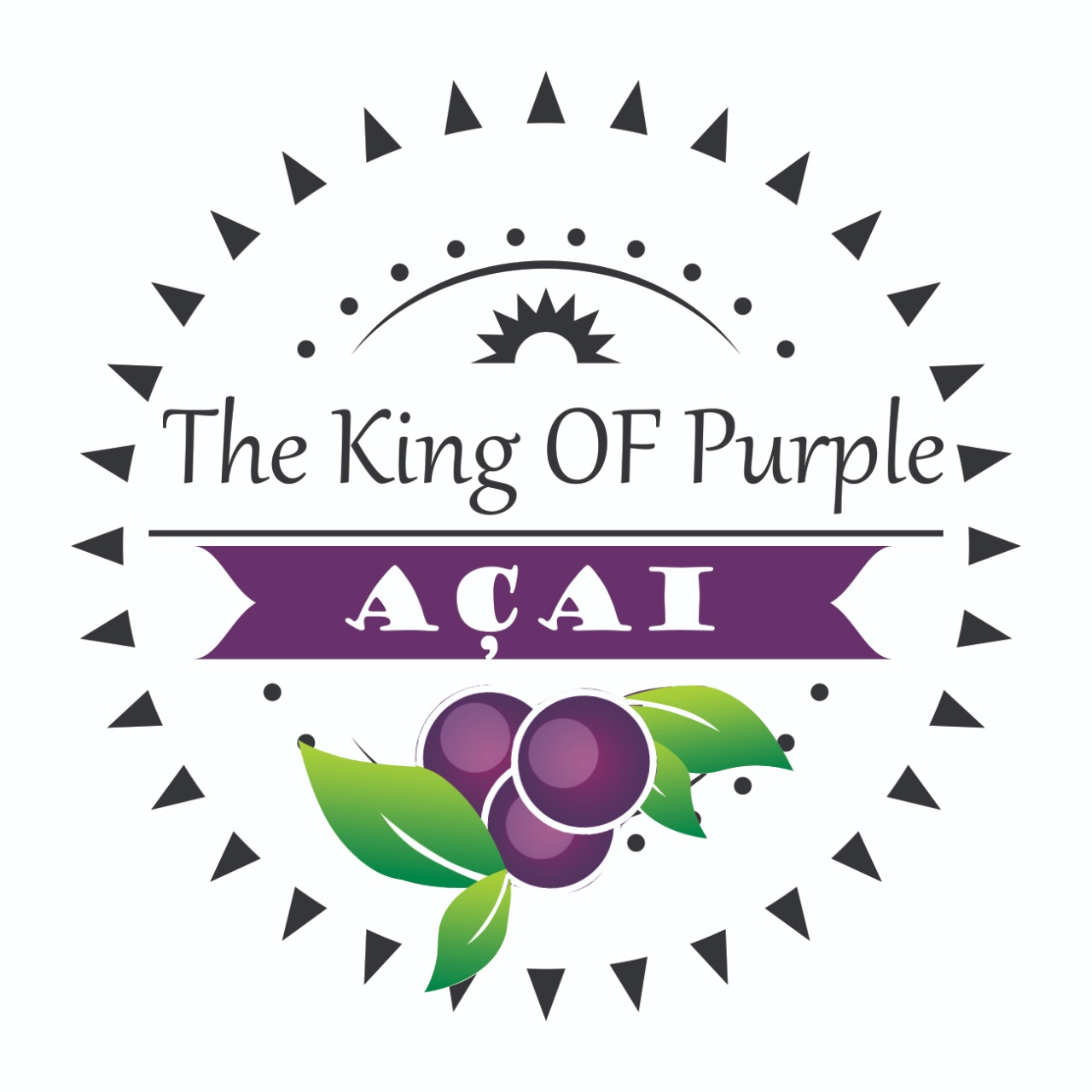 Logo-Loja de Açaí - The King of Purple Açaí