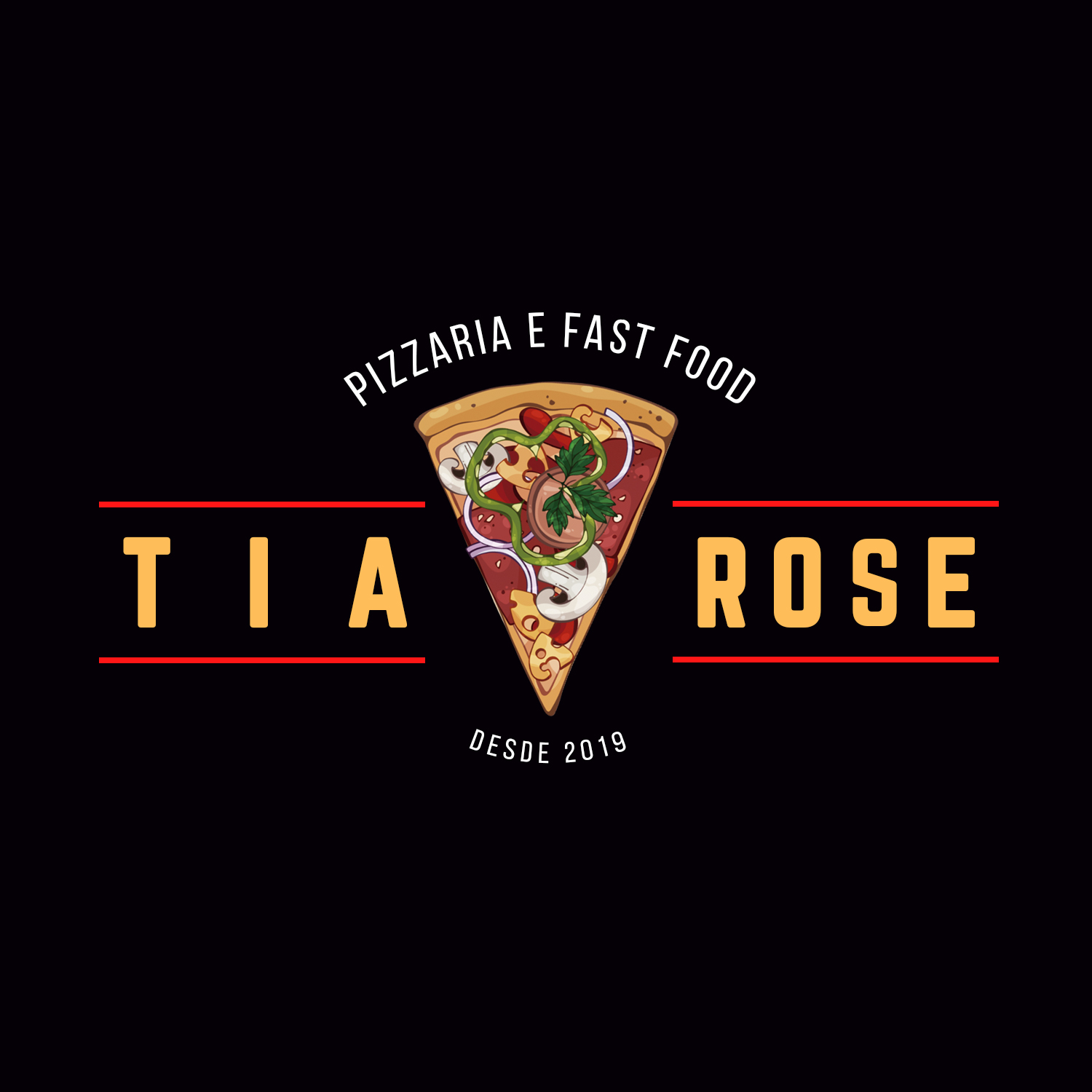 Logo-Pizzaria - Tia Rose Pizzaria & Lanchonete