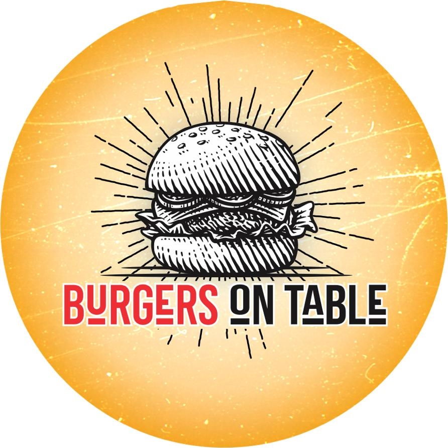 Logo-Hamburgueria - Burgers on Table