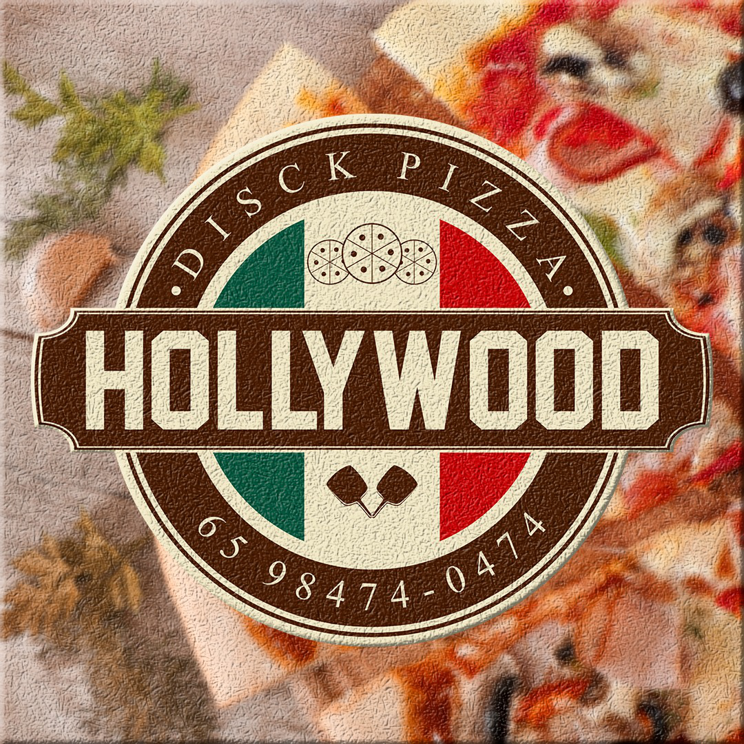 Logo-Pizzaria - disck pizza hollywood